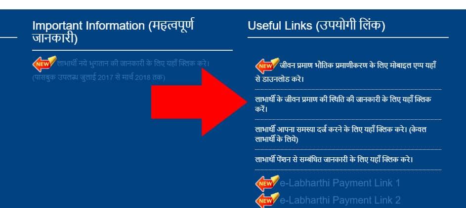 E Labharthi Bihar Life Certificate Check