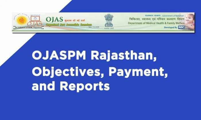 OJASPM Rajasthan Objectives Payment