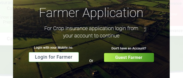 PM Crop Insurance application login