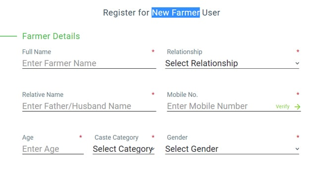 Pradhanmantri Fasal Bima New Farmer Register