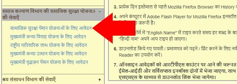 RPTS Bihar Samajik Suraksha Pension Application