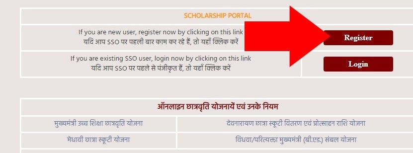 Rajasthan CM scholarship Register