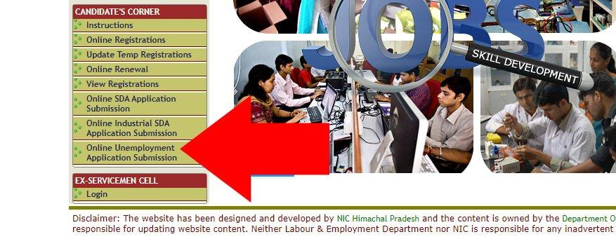 eEMIS HP Candidate Unemployment Allowance Register