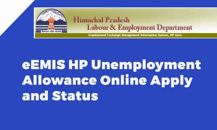 eEMIS HP Unemployment Allowance Online Apply and Status