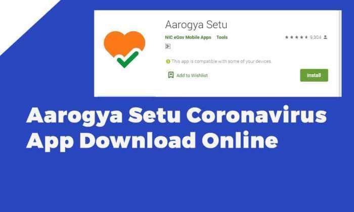 Aarogya Setu Coronavirus App Download Online