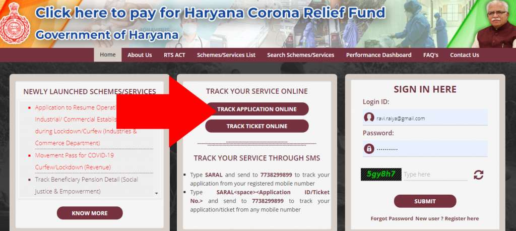 COVID-19 Movement Pass Application Status Haryana