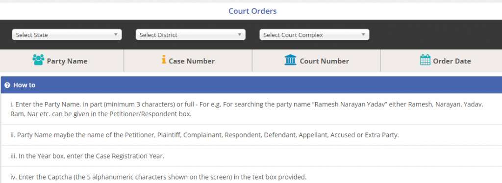 Court Order Ecourts