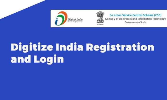 Digitize India Registration and Login