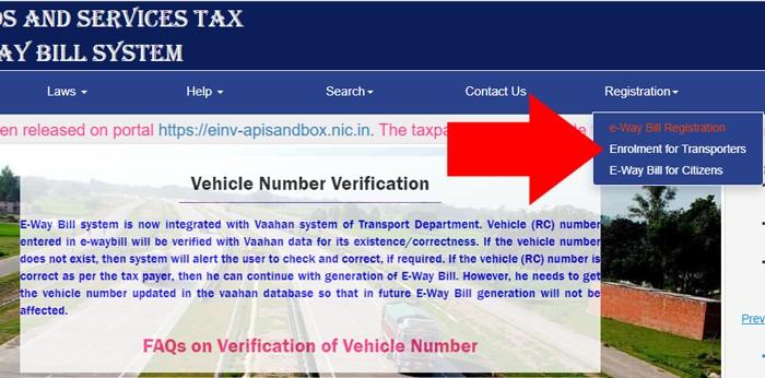 E Way Bill Transporter Register