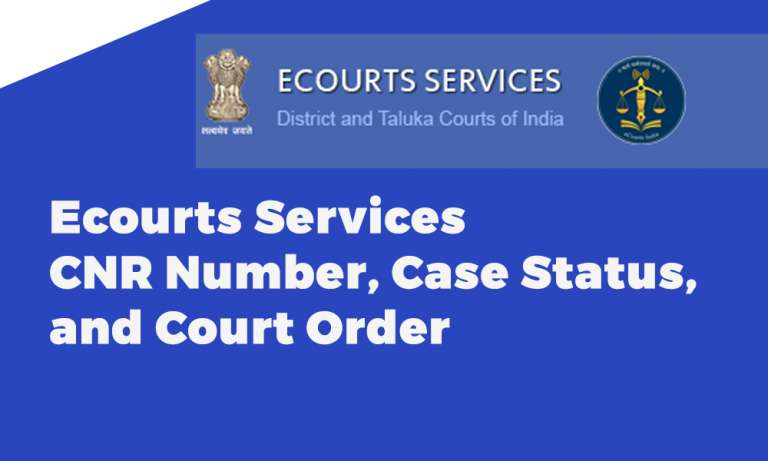 Ecourts Services CNR Number Case Status and Court Order