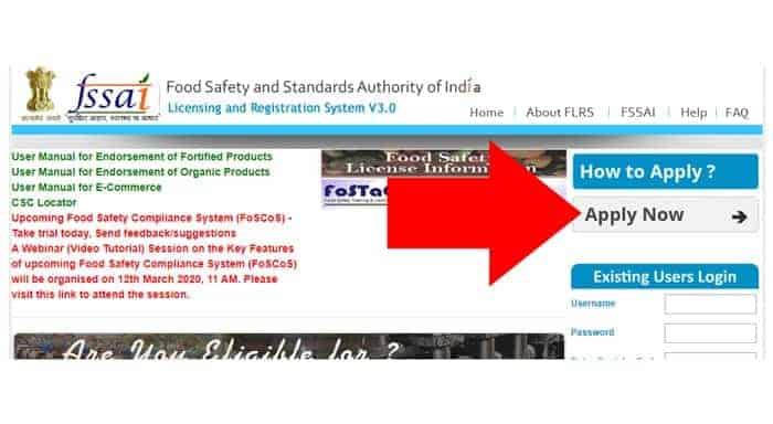 FSSAI License Online Apply