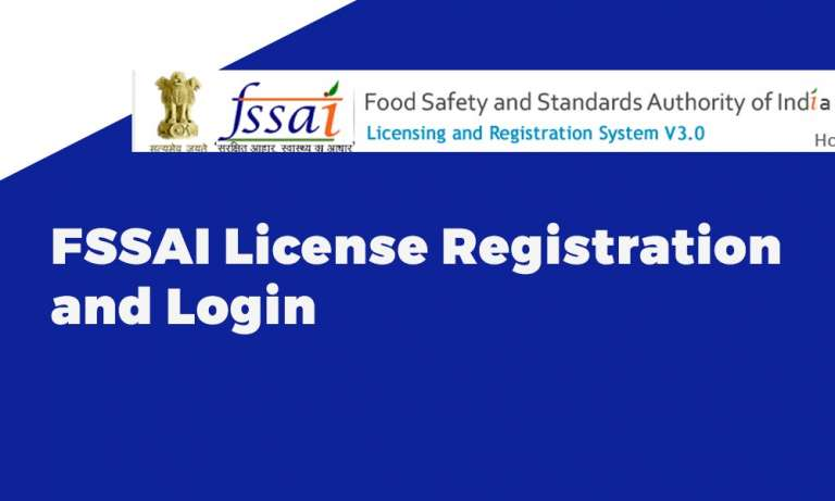 FSSAI License Registration and Login