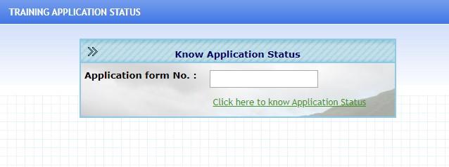 Haryana Roadways Training Application Status Form