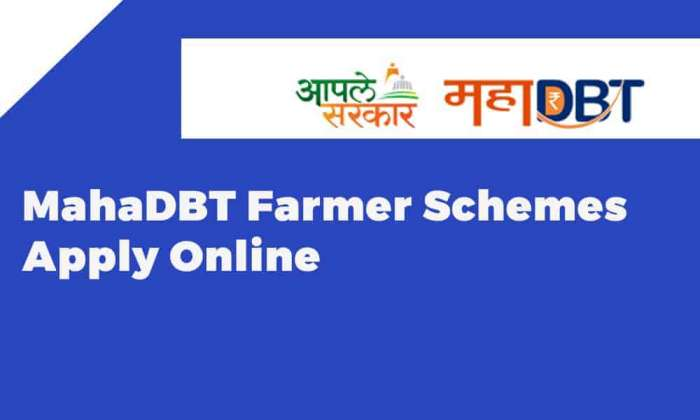 MahaDBT Farmer Schemes Apply Online