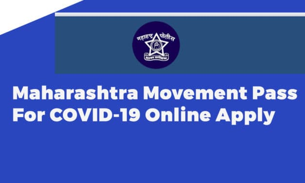 Maharashtra Movement Pass For COVID-19 Online Apply
