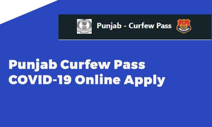 Punjab Curfew Pass COVID-19 Online Apply