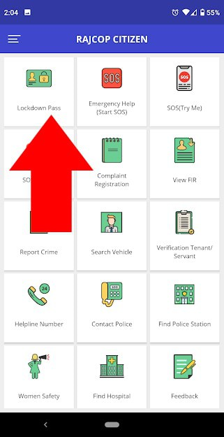 Rajasthan COVID-19 Movement Pass Application