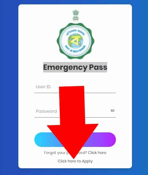 West Bengal Emergency Pass COVID-19
