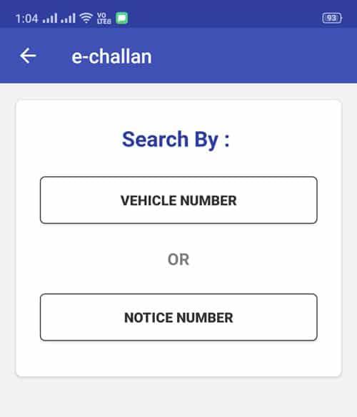 Delhi Challan Payment
