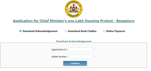 Download Acknowledgement CM One Lakh Houses