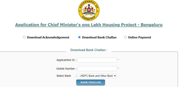 Download Bank Challan CM One Lakh Houses