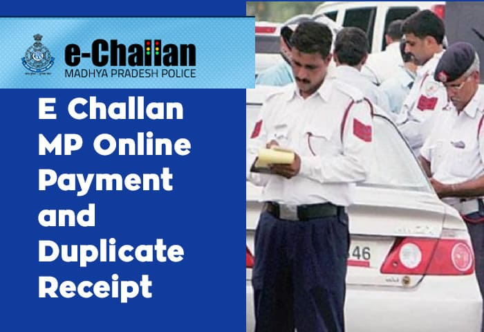 E Challan MP Online Payment and Duplicate Receipt
