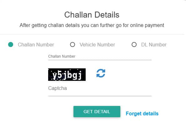 E Challan Parivahan Payment Online