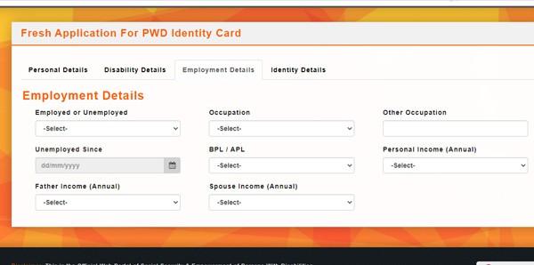 PWD Employment Details