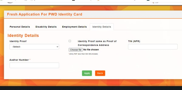 Pwd Application Identity proof