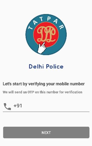 Tatpar Delhi Police App Register